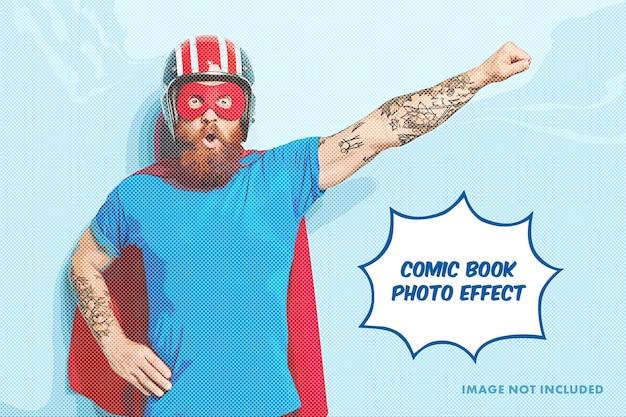 Szablon Efektu Grawerowania Zdjęcia Komiksu Premium Psd