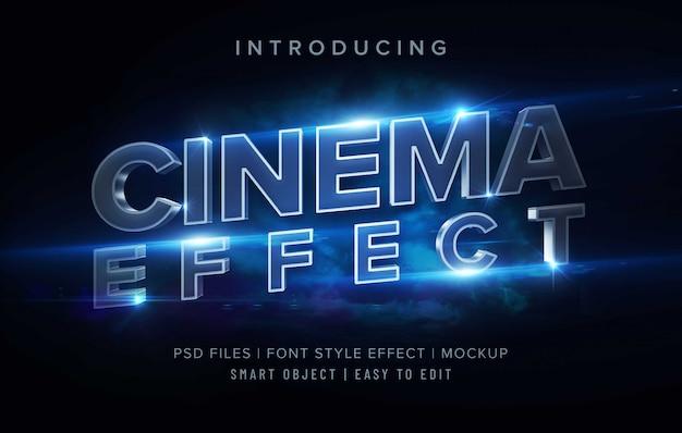 Szablon Efektu Stylu Czcionki 3d Cinema Premium Psd