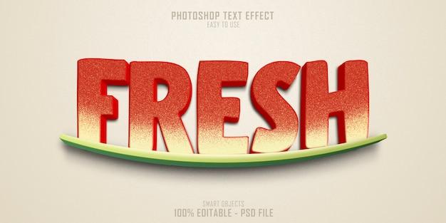 Szablon Efektu Stylu świeżego Tekstu Premium Psd