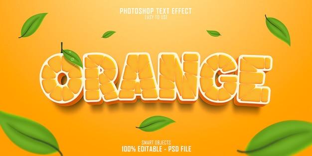 Szablon Efektu Stylu Tekstu Pomarańczowy Premium Psd