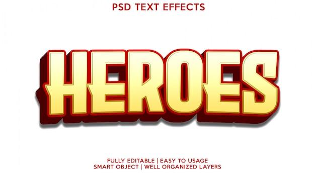 Szablon Efektu Tekstowego Bohaterów Premium Psd