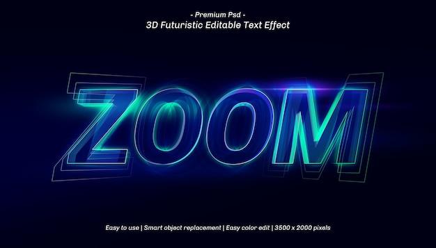 Szablon Efektu Tekstowego Powiększenia 3d Premium Psd