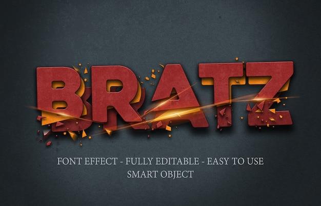 Szablon Efektu Tekstowego Z żelazem 3d Premium Psd