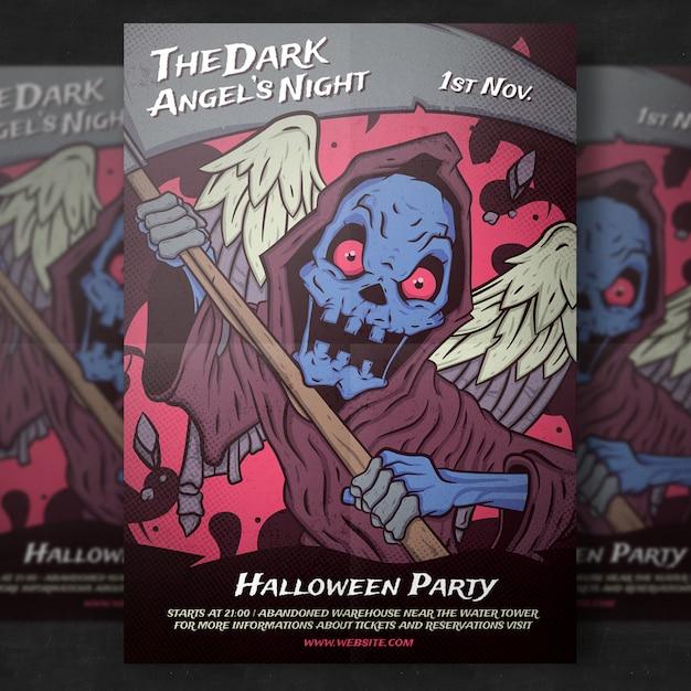 Szablon halloween party flyer Darmowe Psd