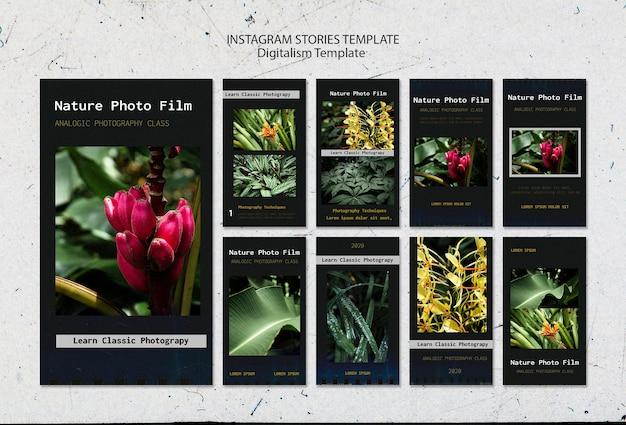 Szablon Historii Filmu Fotograficznego Natury Na Instagramie Darmowe Psd