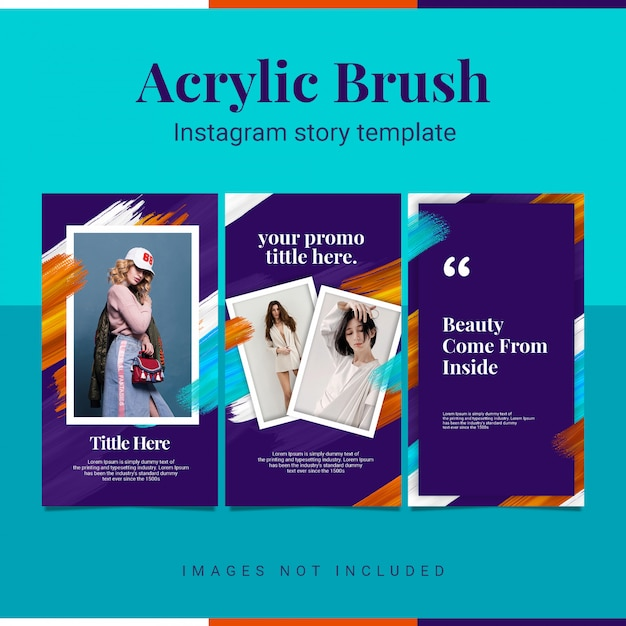 Szablon historii instagram akrylowe instastory Premium Psd