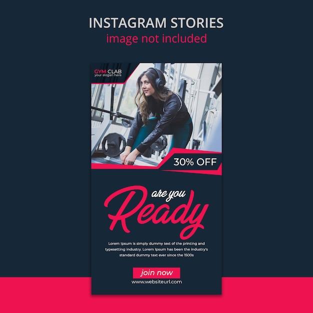 Szablon Historii Instagram Fitness Premium Psd
