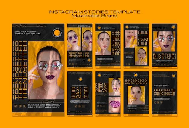Szablon Historii Instagram Maximalist Trendsetter Darmowe Psd