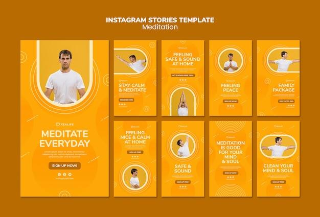 Szablon Historii Instagram Medytacji Darmowe Psd
