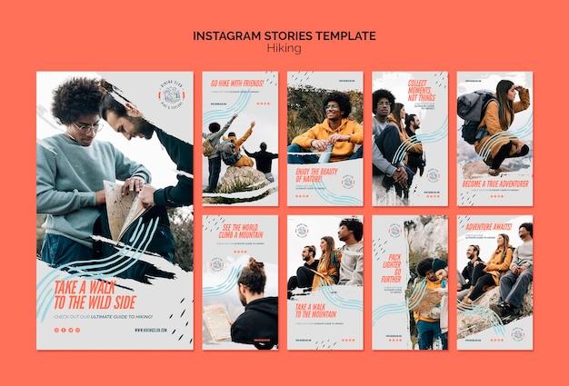 Szablon Historii Instagram Piesze Wycieczki Koncepcja Darmowe Psd
