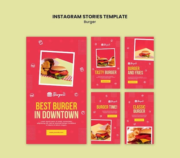 Szablon Historii Instagram Restauracji Burger Premium Psd