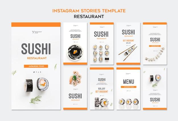 Szablon Historii Instagram Restauracji Sushi Darmowe Psd