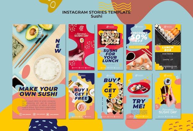 Szablon Historii Instagram Sushi Darmowe Psd