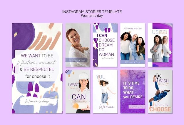 Szablon Historii Instagram Z Okazji Dnia Kobiet Darmowe Psd