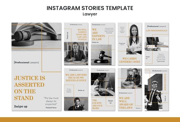 Szablon Historii Na Instagramie Firmy Prawniczej Darmowe Psd