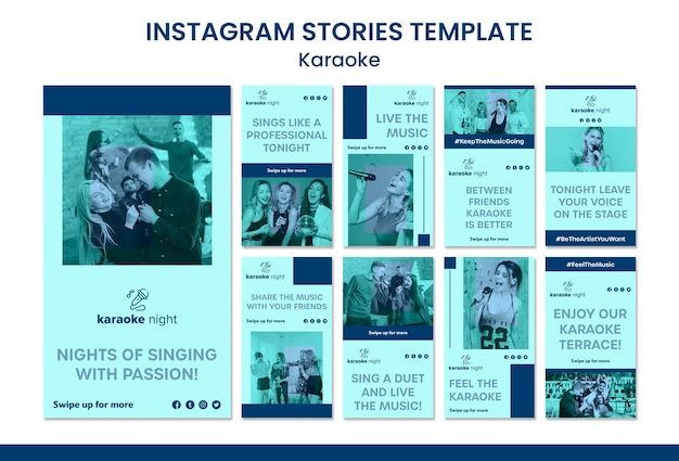 Szablon Historii Na Instagramie Karaoke Darmowe Psd
