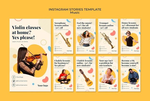 Szablon Historii Na Instagramie Koncepcja Muzyki Darmowe Psd