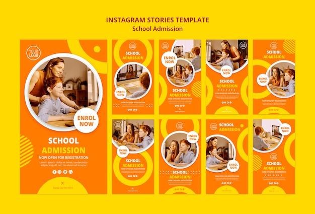 Szablon Historii Na Instagramie Koncepcja Przyjęcia Do Szkoły Darmowe Psd
