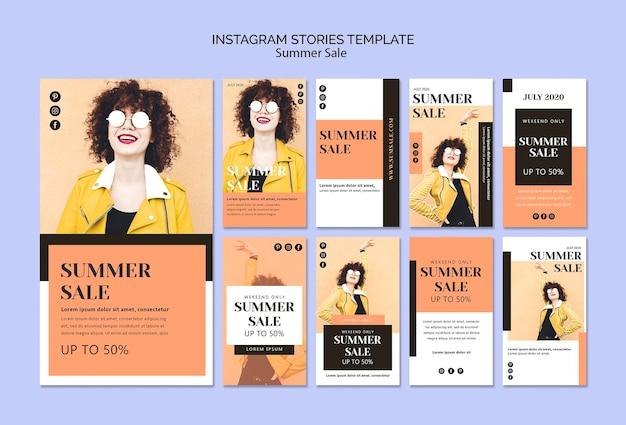 Szablon Historii Na Instagramie Letniej Sprzedaży Darmowe Psd