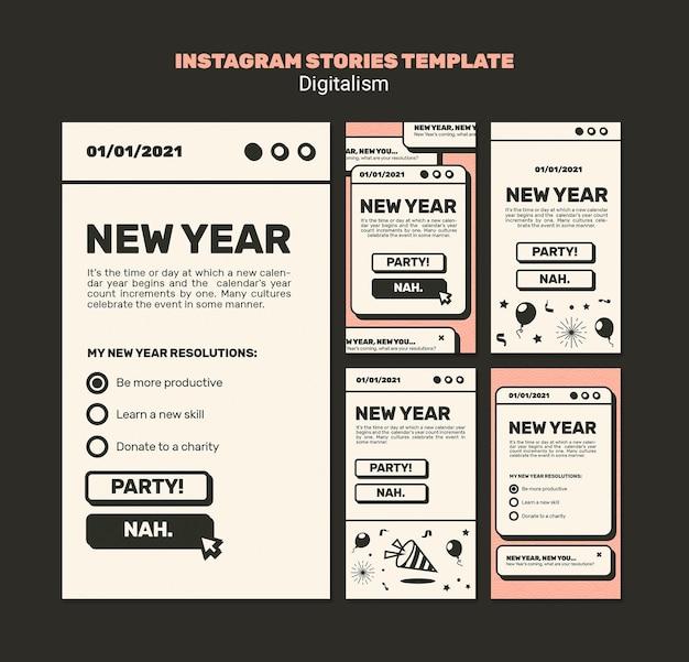 Szablon Historii Na Instagramie Nowego Roku Premium Psd
