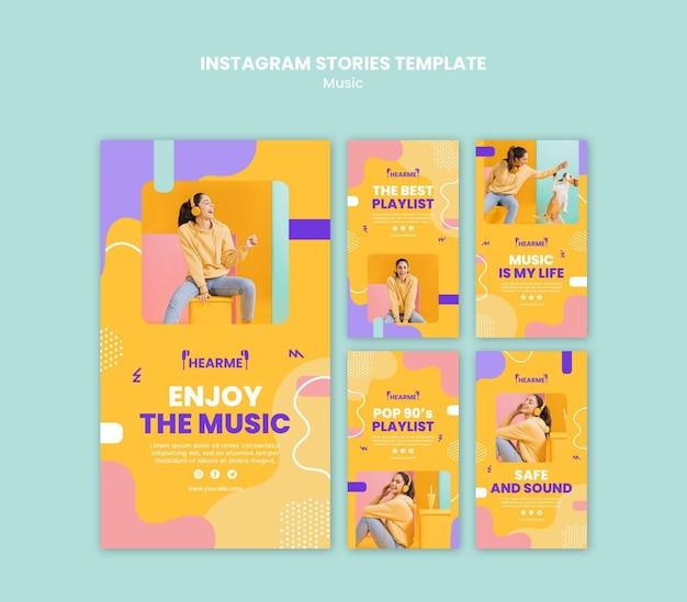 Szablon Historii Na Instagramie Platformy Muzycznej Darmowe Psd