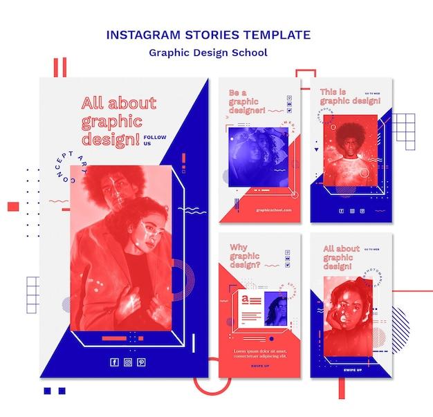 Szablon Historii Na Instagramie Projekt Graficzny Szkoły Darmowe Psd
