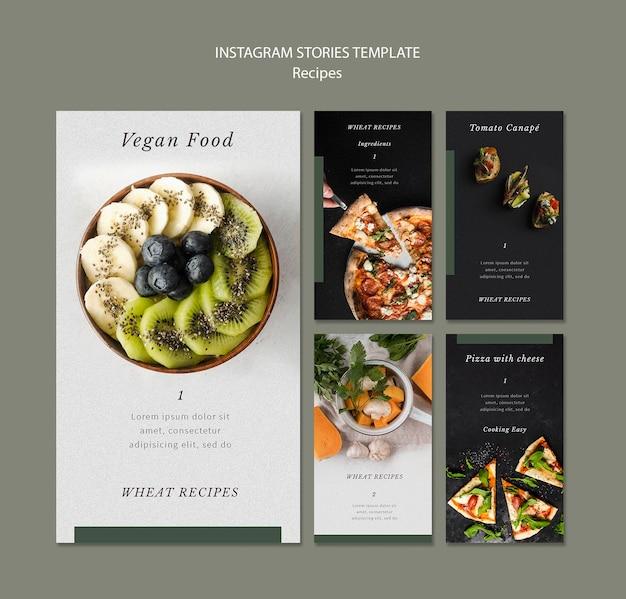Szablon Historii Na Instagramie Pyszne Przepisy Kulinarne Darmowe Psd