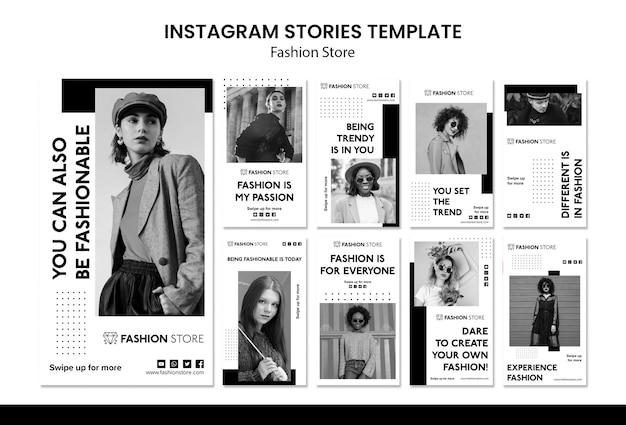 Szablon Historii Na Instagramie W Sklepie Mody Darmowe Psd