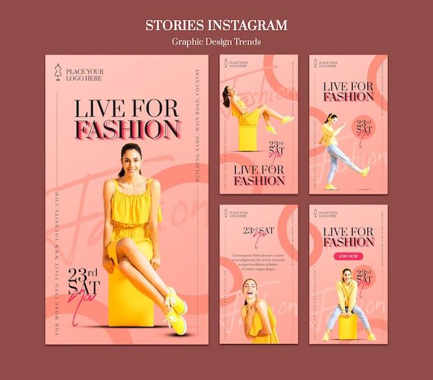 Szablon Historii Na Instagramie W Sklepie Mody Premium Psd