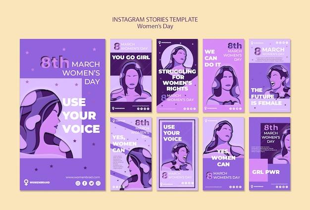 Szablon Historii Na Instagramie Z Okazji Dnia Kobiet Darmowe Psd