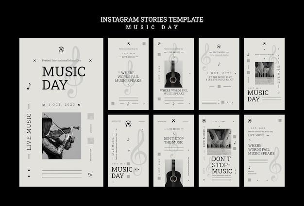Szablon Historii Na Instagramie Z Okazji Dnia Muzyki Darmowe Psd