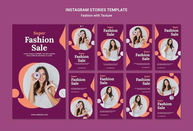 Szablon Historii Sprzedaży Mody Na Instagramie Darmowe Psd