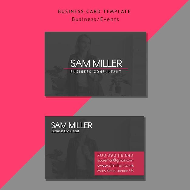 Szablon karty konsultant biznesowy Darmowe Psd