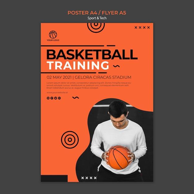 Szablon Koszykówki Szkolenia I Człowiek Ulotki Darmowe Psd