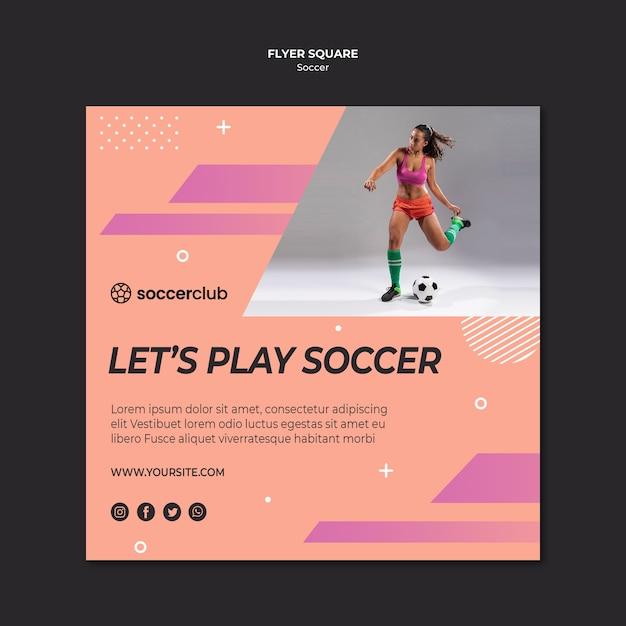 Szablon Kwadratu Ulotki Dla Piłki Nożnej Darmowe Psd