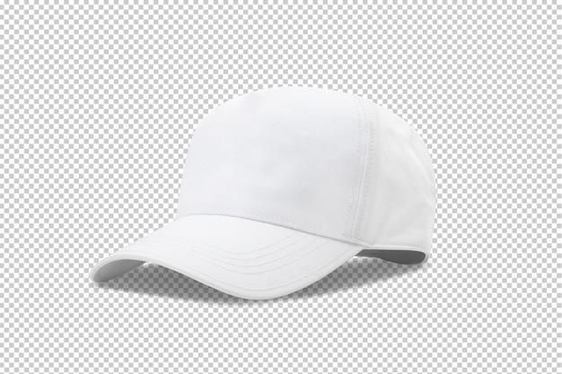 Szablon makiety białej czapki z daszkiem Premium Psd