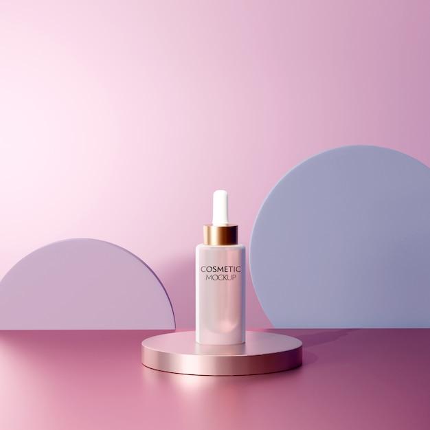 Szablon Makiety Pojemnika Kosmetycznego Do Twarzy Premium Psd