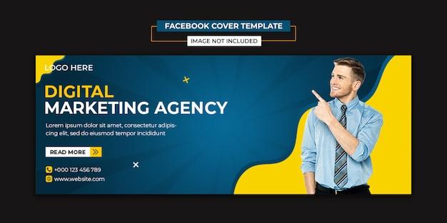 Szablon Mediów Społecznościowych I Facebook Na Okładkę Agencji Kreatywnej Premium Psd