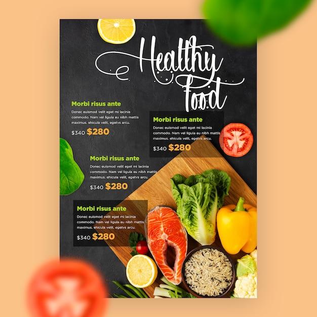 Szablon Menu Restauracji Z Warzywami Darmowe Psd