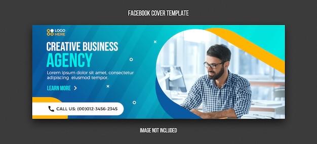 Szablon Nowoczesnej Agencji Facebook Premium Psd