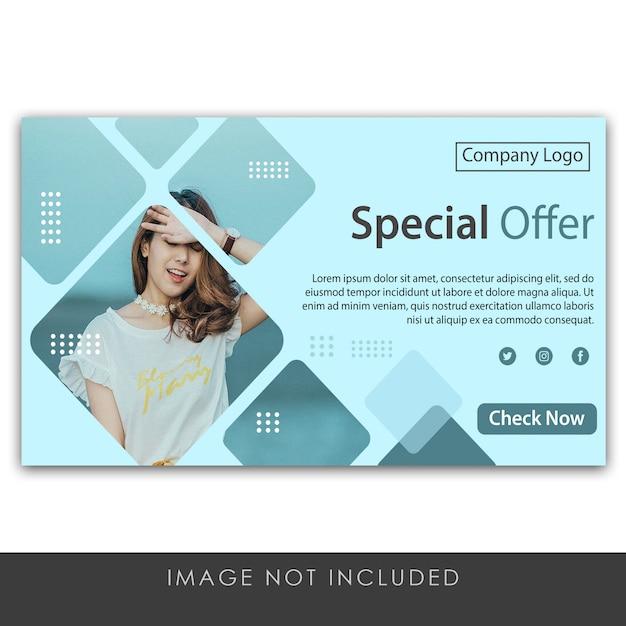 Szablon Oferty Specjalnej Banner Premium Psd