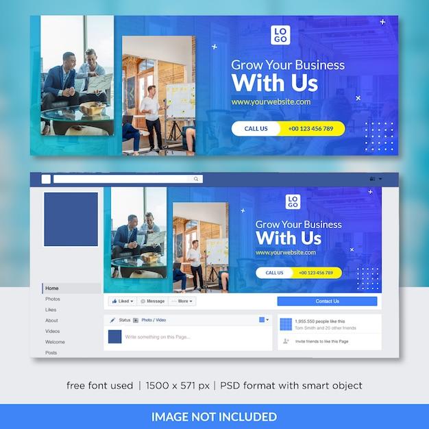 Szablon Okładki Facebook Firmy Premium Psd