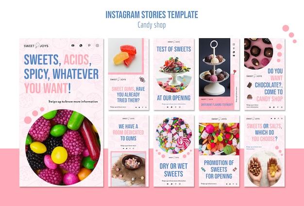 Szablon Opowiadań Instagram Candy Shop Darmowe Psd