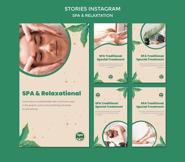 Szablon Opowiadań Instagram Koncepcja Spa Premium Psd