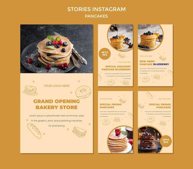 Szablon Opowiadań Instagram Restauracja Naleśniki Premium Psd