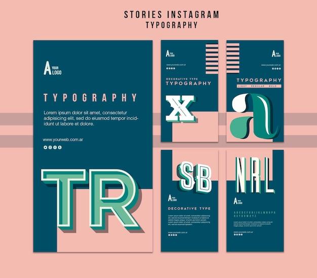 Szablon Opowiadań Na Instagramie Typografii Darmowe Psd