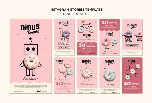 Szablon Opowieści Instagram Koncepcja Pączki Darmowe Psd