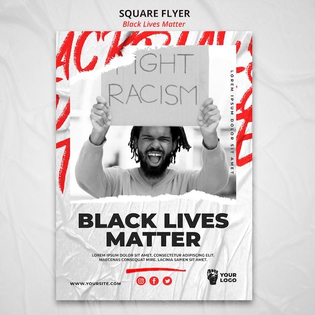Szablon Plakat Czarny życie Ma Znaczenie Darmowe Psd