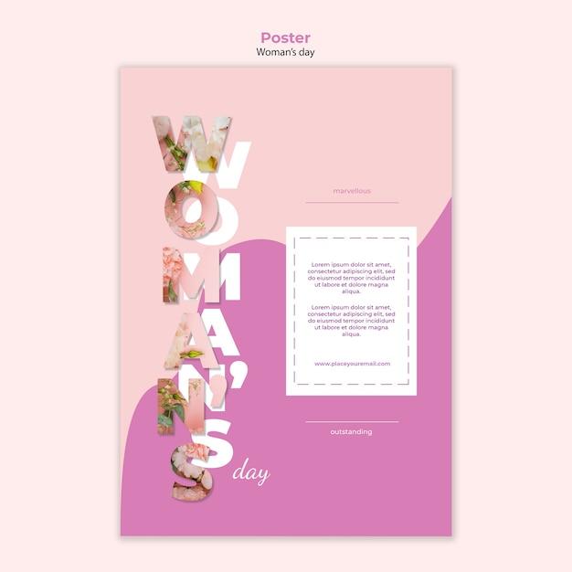 Szablon Plakat Dzień Kobiety Darmowe Psd