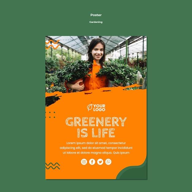 Szablon Plakat Koncepcja Ogrodnictwo Darmowe Psd